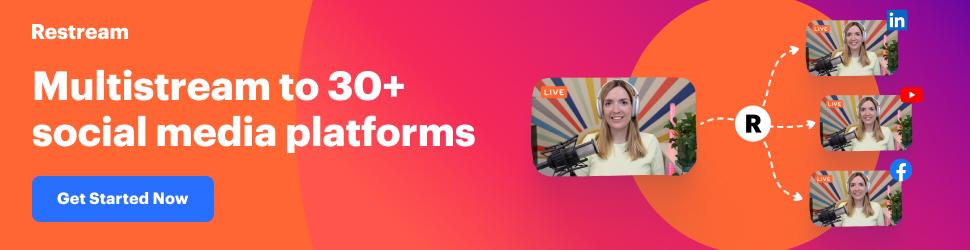 Live stream to 30+ platforms simultaneously free 7days